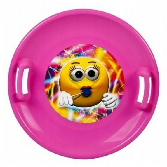 Inlea4Fun szánkó tányér 60 cm - Rózsaszín