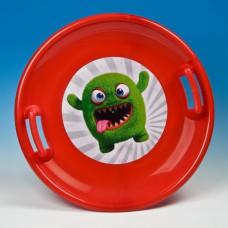 Inlea4Fun szánkó tányér 60 cm - Piros Előnézet