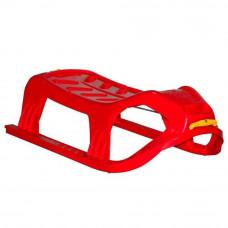 Inlea4Fun Kétszemélyes műanyag szánkó - piros Előnézet