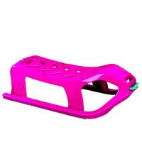 Inlea4Fun SNOW Kétszemélyes műanyag szánkó - rózsaszín