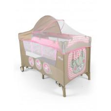 Milly Mally Mirage Deluxe pink toys utazóágy - barna/rózsaszín Előnézet