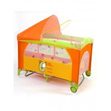 Milly Mally Mirage Deluxe teddy utazóágy - narancssárga Előnézet