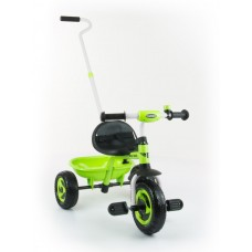 Milly Mally Boby Turbo tricikli tolókarral - zöld Előnézet