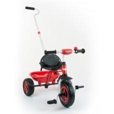 Milly Mally Boby Turbo tricikli tolókarral - piros Előnézet