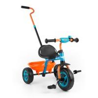 Tricikli tolókarral Milly Mally Boby Turbo - narancssárga