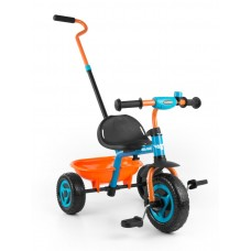 Milly Mally Boby Turbo tricikli tolókarral - narancssárga Előnézet