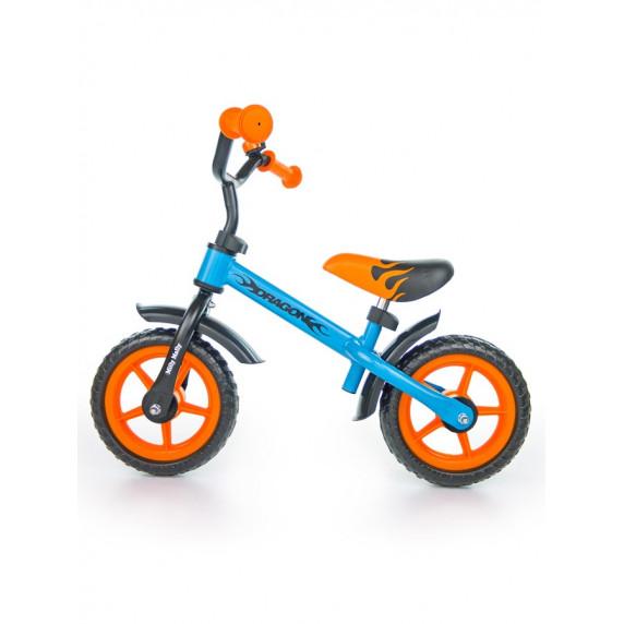 """Futóbicikli Milly Mally Dragon 10"""" - narancssárga/kék"""