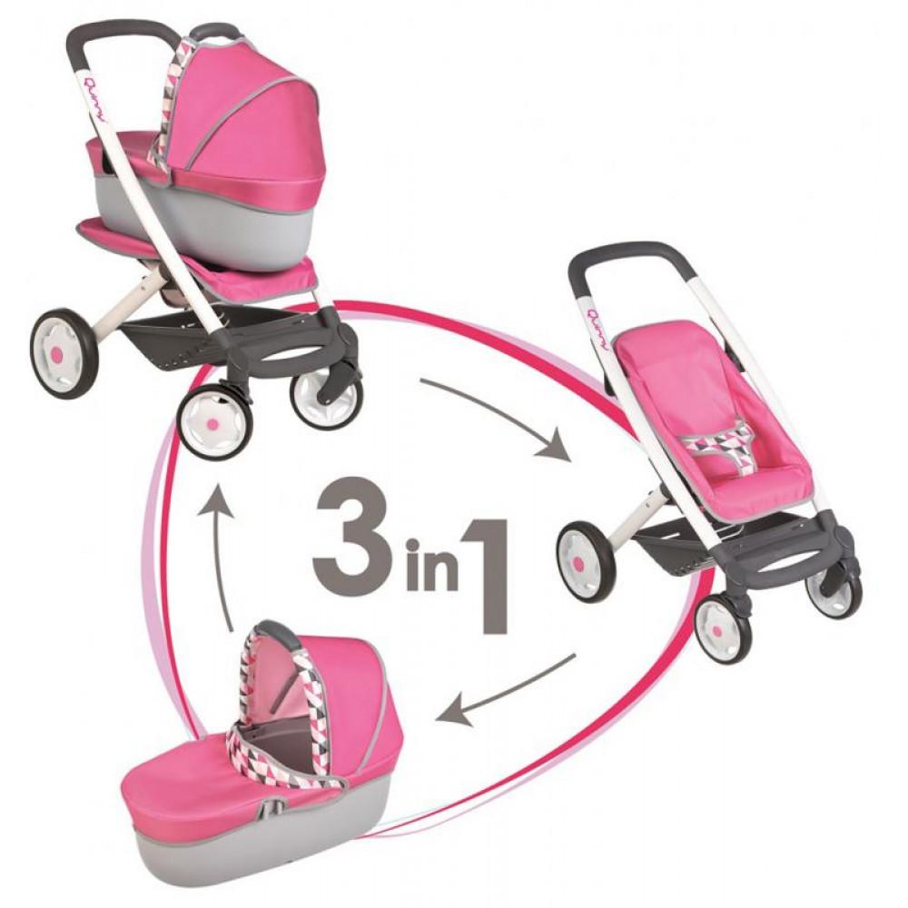 Smoby 3 az 1-ben kombinált babakocsi Maxi Cosi - pink ... f3574b0c18