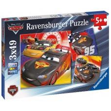 Ravensburger 3 x 49 db-os puzzle - Verdák - Carbon Racers (08001) Előnézet