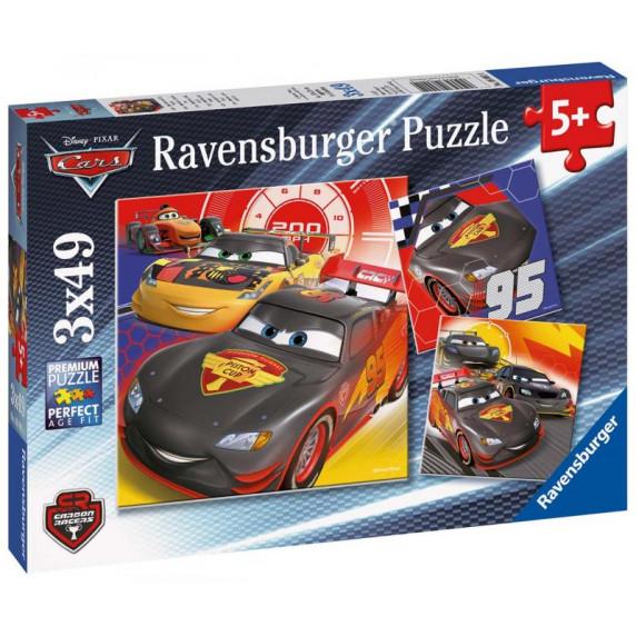 Ravensburger 3 x 49 db-os puzzle - Verdák - Carbon Racers (08001)
