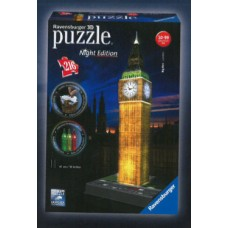 Ravensburger 12588 - Night Edition - Big Ben - 216 db-os 3D puzzle Előnézet