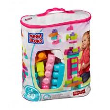 Mega Bloks - építőkocka készlet táskában - rózsaszín Előnézet