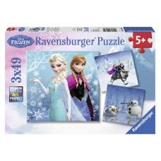 Ravensburger Jégvarázs Téli kalandok 3 x 49 db-os (09264) Előnézet