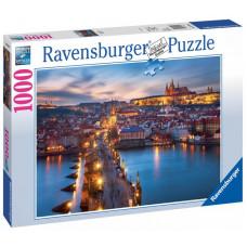 Ravensburger 19740 - Prága éjjel - 1000 db-os puzzle Előnézet