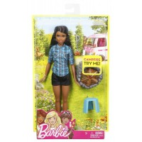 Mattel Barbie - Barbie a tábortűz mellett - barna