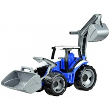 Homlokrakodós traktor markolóval - kék-szürke Előnézet