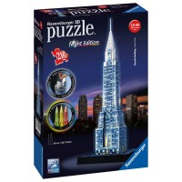 Ravensburger 12595 - Night Edition - Chrysler building 3D puzzle 216 db-os