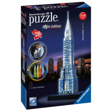Ravensburger 12595 - Night Edition - Chrysler building 3D puzzle 216 db-os Előnézet