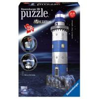 Ravensburger 12577 - Night Edition - Világítótorony 3D puzzle 216 db-os (12577)