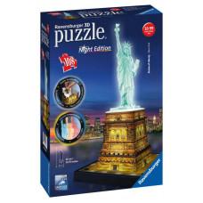 Ravensburger 12596 - Night Edition - Szabadság szobor - 108 db-os 3D puzzle Előnézet