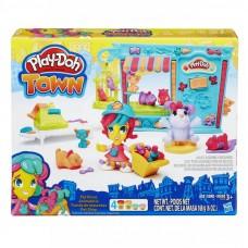 Play - Doh Town - Kisállat kereskedés gyurmakészlet Előnézet