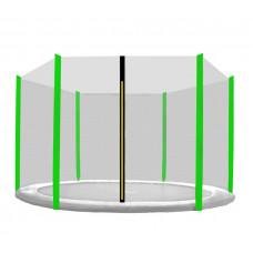 AGA védőháló 150 cm átmérőjű trambulinhoz 6 rudas - Világoszöld Előnézet