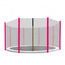 AGA védőháló 366 cm átmérőjű trambulinhoz 8 rudas - Rózsaszín Előnézet