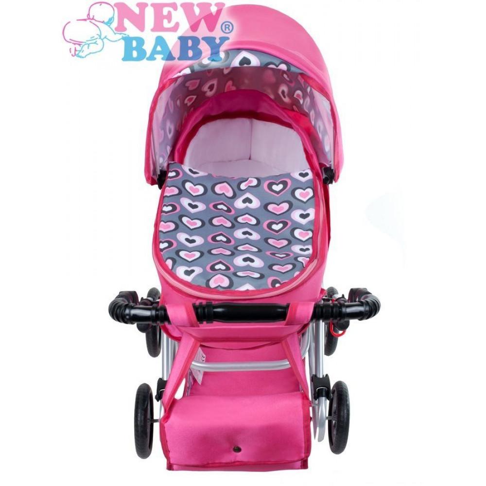 ... NEW BABY Ruzsenka játék babakocsi - rózsaszín ... 3a1b842efe
