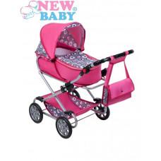 NEW BABY Ruzsenka játék babakocsi - rózsaszín Előnézet