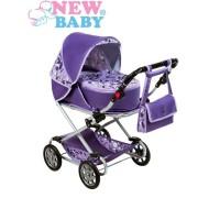 NEW BABY Lily játék babakocsi - lila