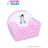 New Baby Zebra gyerekfotel - rózsaszín