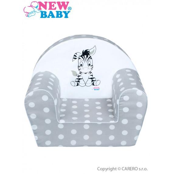 Gyerekfotel New Baby Zebra - szürke