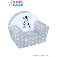 New Baby Zebra gyerekfotel - szürke
