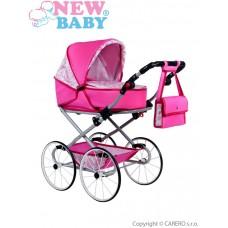 NEW BABY Natália játék babakocsi - rózsaszín Előnézet