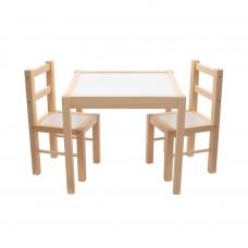 New Baby PRIMA gyerek fa asztal székekkel - Természetes Előnézet