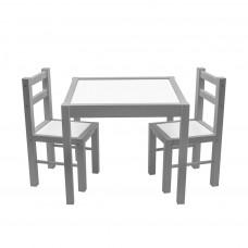 Gyerek fa asztal székekkel New Baby PRIMA - Szürke Előnézet