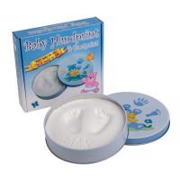 Kéz és láblenyomat készítő készlet Baby HandPrint - kék