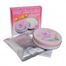 Kéz és láblenyomat készítő készlet Baby HandPrint - rózsaszín Előnézet