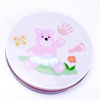 Kéz és láblenyomat készítő készlet Inlea4fun - rózsaszín