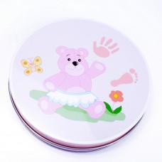 Inlea4fun kéz és láblenyomat készítő készlet - rózsaszín Előnézet