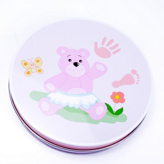 Inlea4fun kéz és láblenyomat készítő készlet - rózsaszín