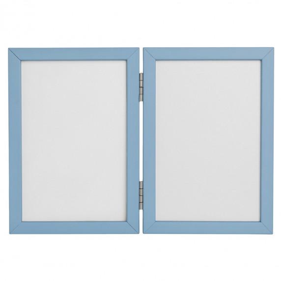 Inlea4fun kéz és láblenyomat készítő készlet - Kettes keret - Kék