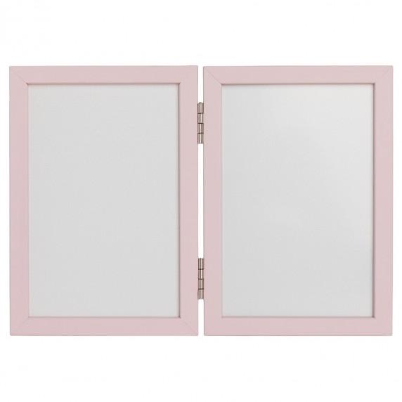 Kéz és láblenyomat készítő készlet Inlea4fun - Kettes keret - Rózsaszín