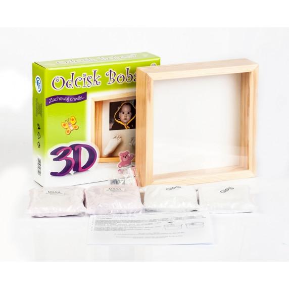 3D szobor kéz és láblenyomat készítő készlet Inlea4fun