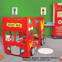 Inlea4Fun gyerekágy Happy Bus  - Piros
