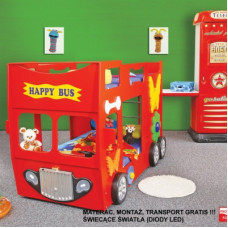 Inlea4Fun gyerekágy Happy Bus  - Piros Előnézet