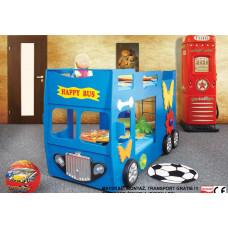 Inlea4Fun gyerekágy Happy Bus  - Kék Előnézet