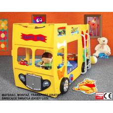 Inlea4Fun gyerekágy Happy Bus  - Sárga Előnézet