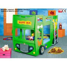 Inlea4Fun gyerekágy Happy Bus  - Zöld Előnézet