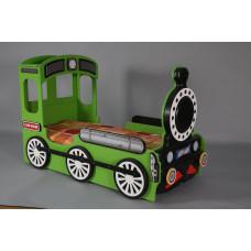Inlea4Fun gyerekágy Mozdonyos  - Zöld Előnézet